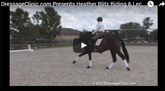 Click on the Player for Video to Play. DressageClinic.com is proud to present International Rider Heather Blitz Riding & Lecturing Rip Line Danish Warmblood by: Hotline 4 yrs. old Stallion Training: Training Level